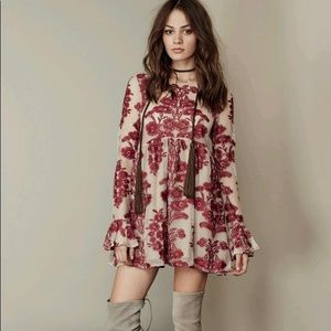 Free People/FL&L Temecula Mini Dress in Wine
